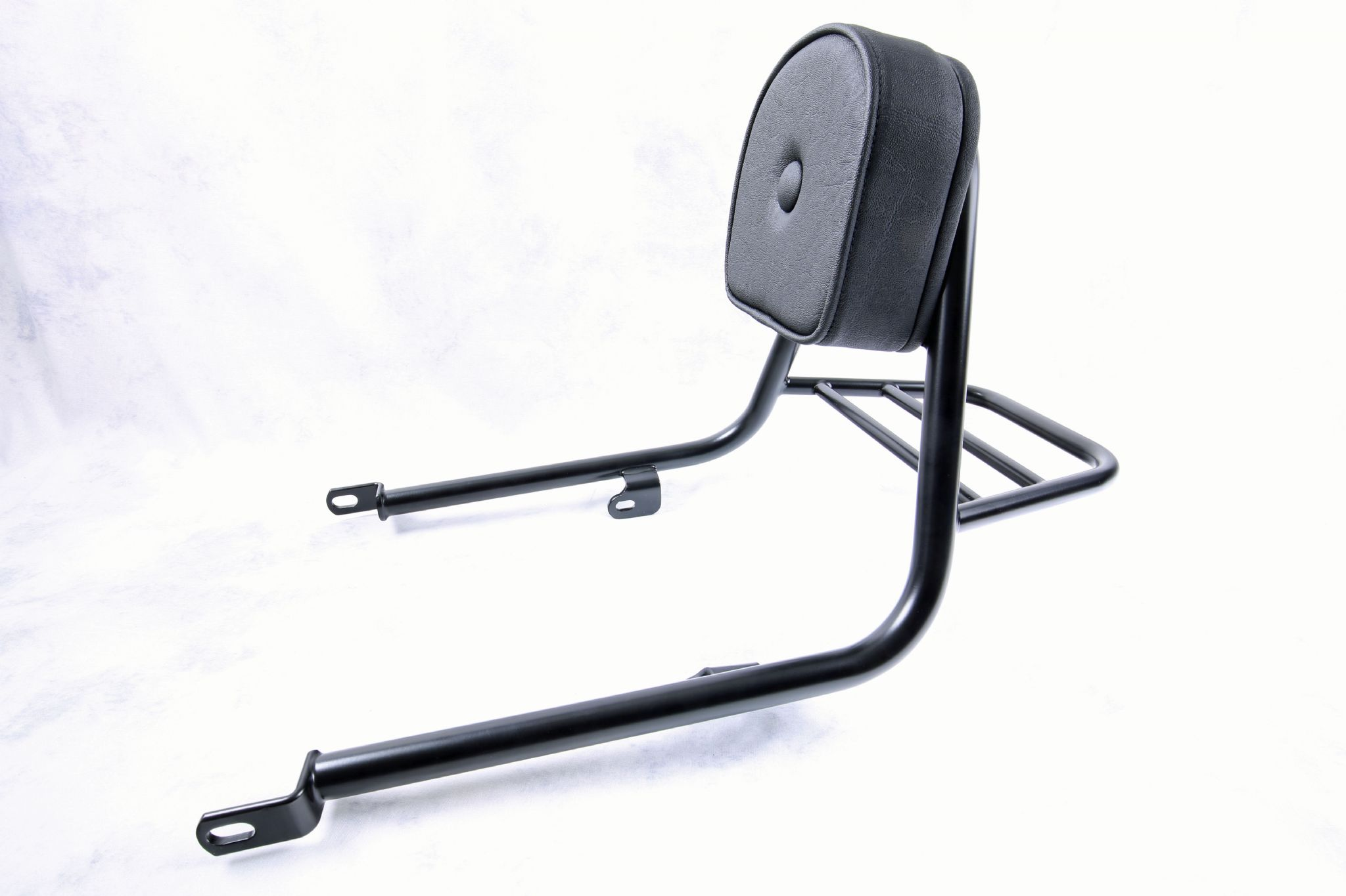 triumph bonneville t100. fehling sissy bar with pad. chrome or black